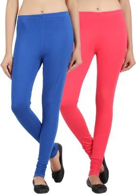 Sewn Women's Pink, Dark Blue Leggings