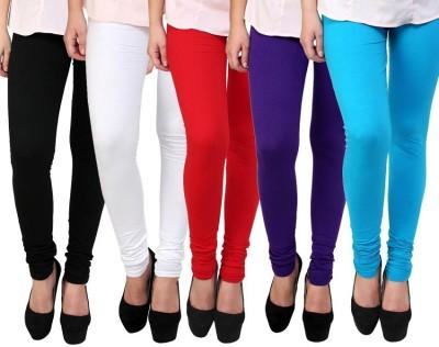 Myra Softwear Women's Black, White, Red, Purple, Light Blue Leggings