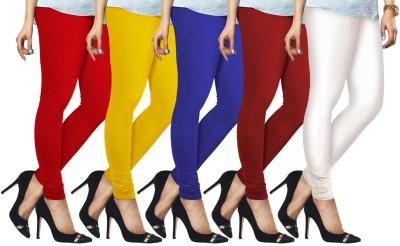 Lux Lyra Womens Red, Yellow, Dark Blue, Red, White Leggings