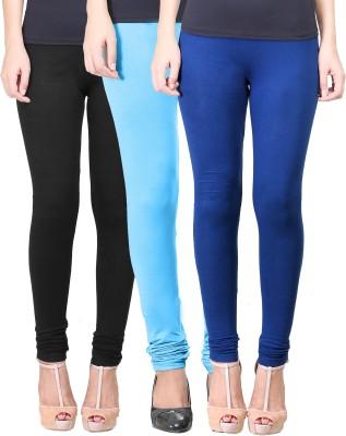 Eshelle Women's Black, Light Blue, Dark Blue Leggings