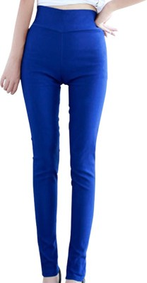 Crazezone Women's Blue Leggings