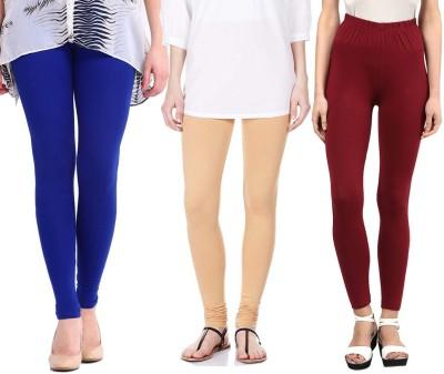 Sampoorna Collection Women's Blue, Beige, Maroon Leggings