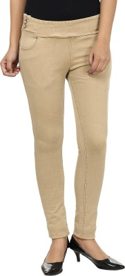 Fashion Cult Women's Beige Jeggings