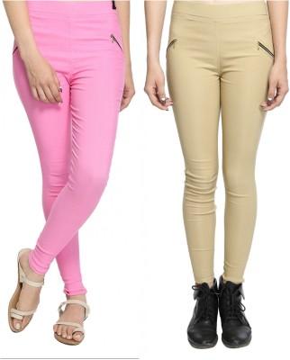 StyloFashionGarments Women's Pink, Beige Jeggings