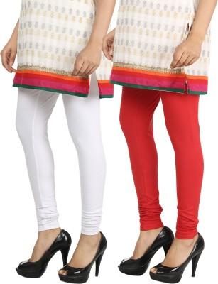 Bodymist Women's Red, White Leggings