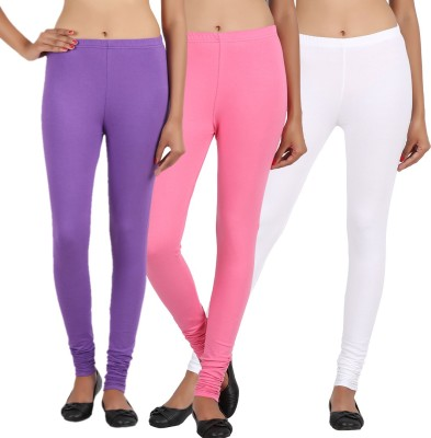 Sewn Women's Pink, White, Purple Leggings