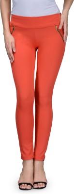 Being Fab Women's Orange Jeggings