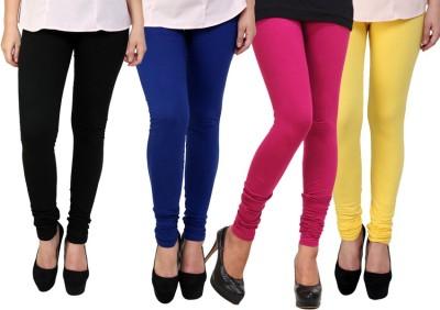 Dharamanjali Women's Black, Blue, Pink, Yellow Leggings