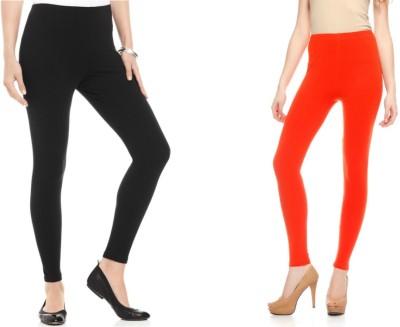 Kamaira Women's Black, Orange Leggings