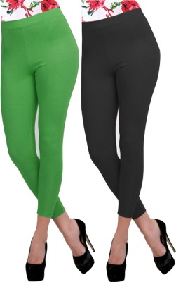 Carrol Women's Green, Black Leggings