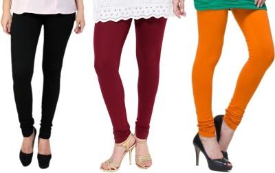 Lienz Women's Black, Maroon, Orange Leggings