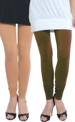 Tulsattva Women's Brown, Beige Leggings