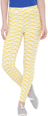 Chumbak Women's Yellow Leggings