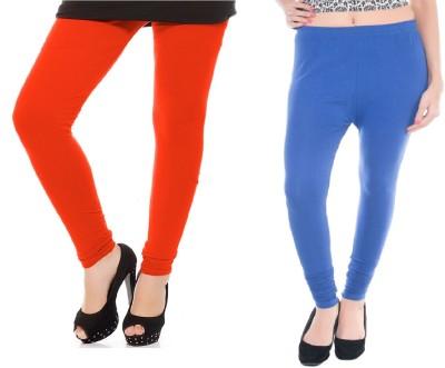 Colors More Women's Orange, Blue Leggings