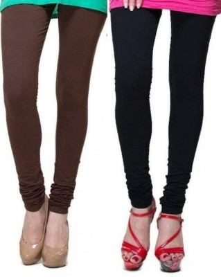 Zadine Women's Brown, Black Leggings