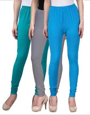 Desi Duos Women's Light Blue, Light Green, Grey Leggings