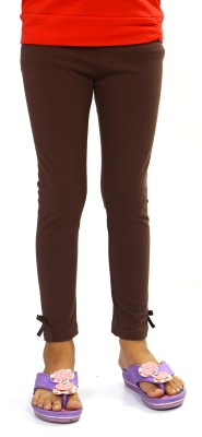 Bio Kid Girl's Brown Leggings