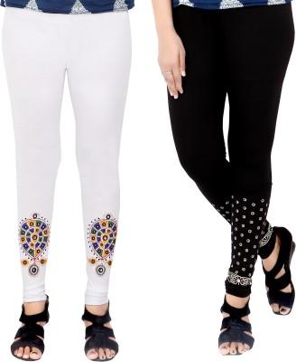 T-BRO,S Enterprises Women's White, Black Leggings