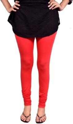 Saanvee Girl's Red Leggings