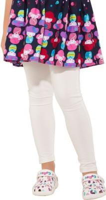 Go Colors Girl's White Leggings