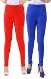 iHeart Women's Red, Blue Jeggings (Pack ...