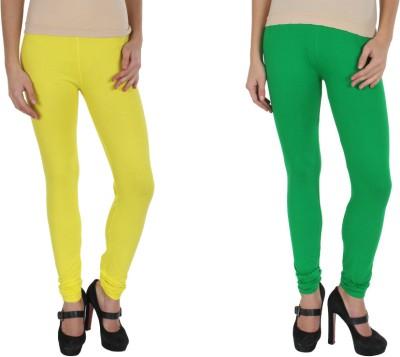 Kamaira Women's Yellow, Green Leggings