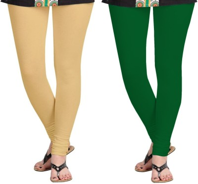ZACHARIAS Women's Beige, Green Leggings