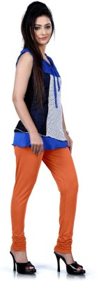 DesiButik Women's Orange Leggings
