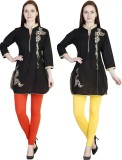 MDR Women's Orange, Yellow Leggings (Pac...