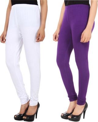 Xposé Women's White, Purple Leggings