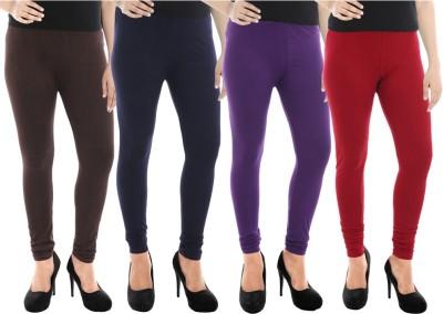Paulzi Women's Brown, Blue, Purple, Maroon Leggings