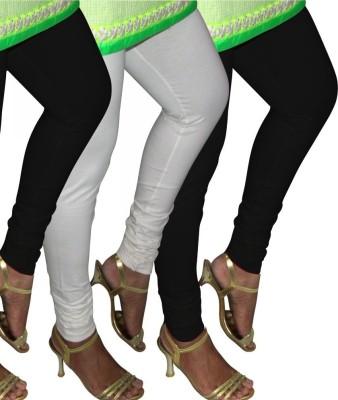 divine creations Girl's Black, White Leggings