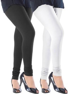 Addline Women's Black, White Leggings