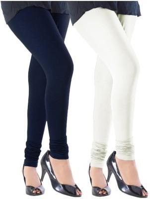 Slassy Women's Blue, White Leggings