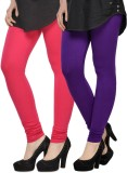 Kjaggs Women's Pink, Purple Leggings (Pa...