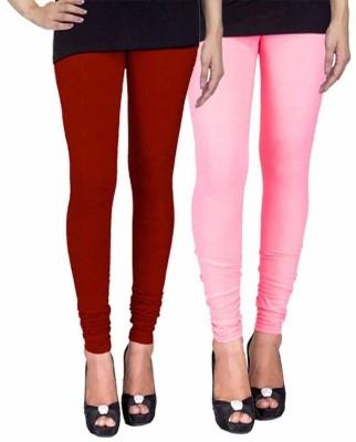 Ayesha Fashion Women's Maroon, Pink Leggings