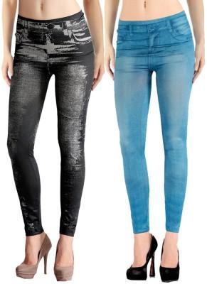 Jeansi Women's Blue, Black Jeggings