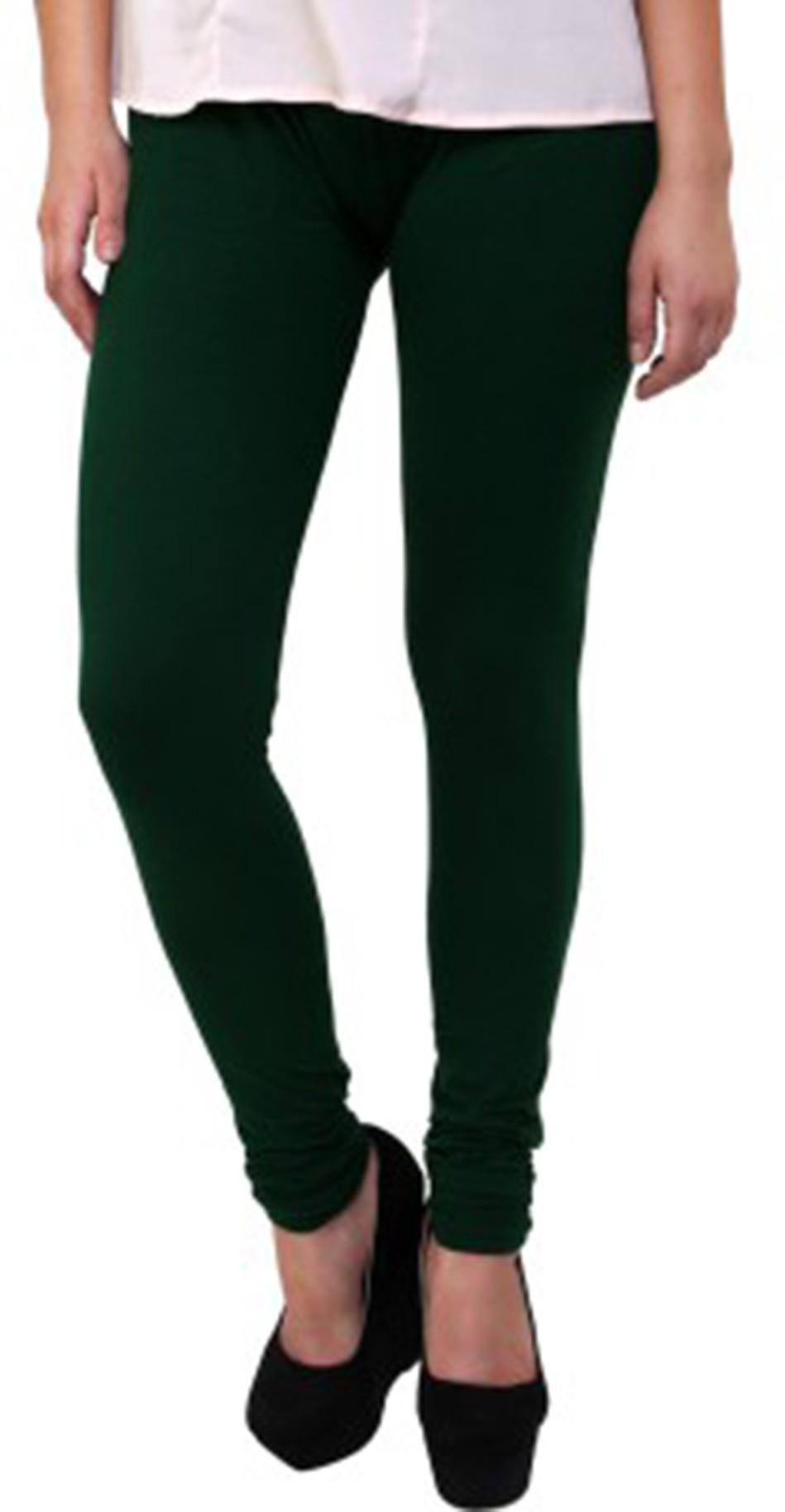 Fashionista Womens Green Leggings