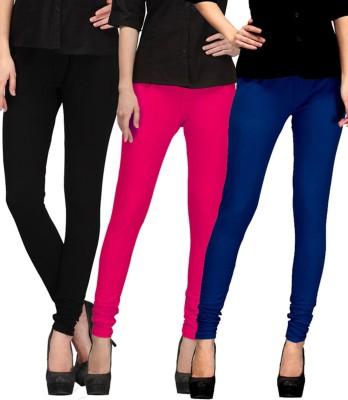 Shikha Women's Black, Pink, Blue Leggings