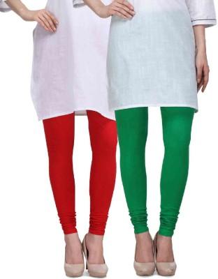 Desi Duos Women's Red, Green Leggings