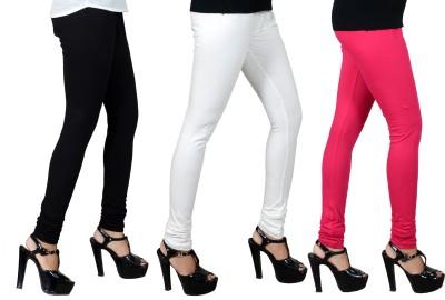 JSA Women's Black, White, Pink Leggings