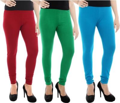 Paulzi Women's Maroon, Green, Blue Leggings