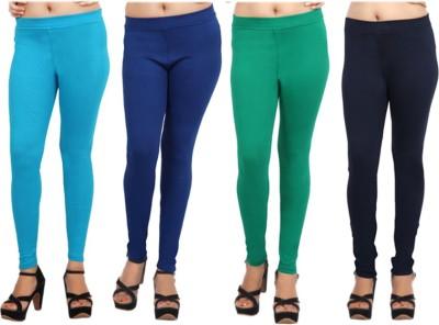 Comix Women's Light Blue, Blue, Green, Dark Blue Leggings
