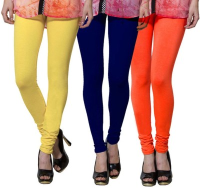 shikha Girl's Yellow, Blue, Orange Leggings
