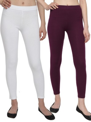 Aloft Women's White, Purple Leggings