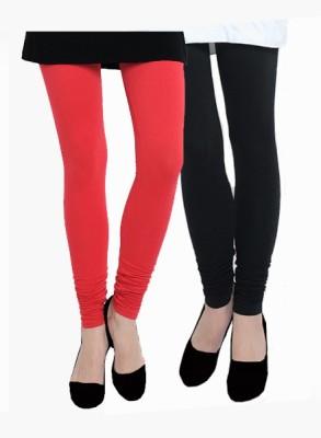 Uzee Women's Red, Black Leggings