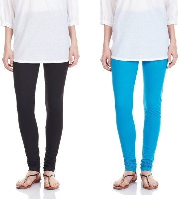 SRS Women's Black, Light Blue Leggings