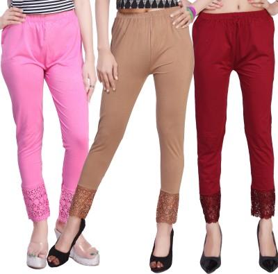 Comix Women's Pink, Brown, Beige, Maroon Leggings
