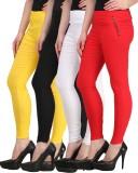 Jainish Women's Black, White, Red, Yello...