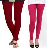 Zacharias Women's Maroon, Pink Leggings ...